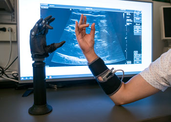 Prosthesis research with artificial arm