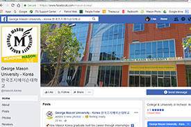 A screen shot of the Mason Korea Facebook page