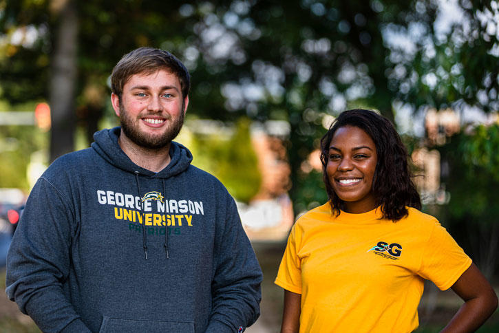Mason student government leaders on Fairfax Campus